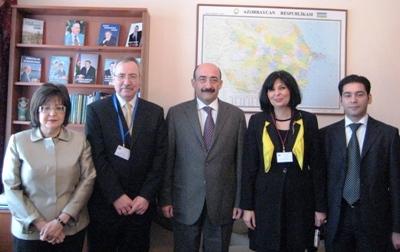 Встреча в министерстве культуры и туризма Азербайджанской Республики