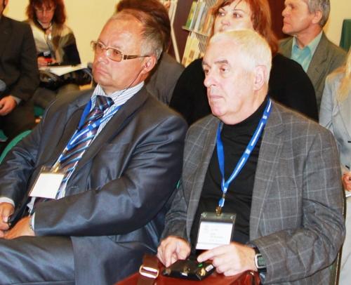 Л. Я. Ноль (справа), С. Д. Черкалин